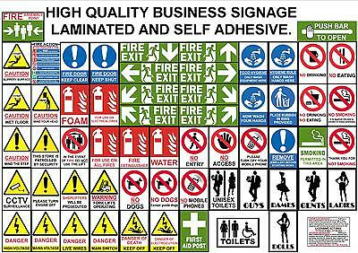 Signs For The Workplace & Business Premises Health Safety Toilet Fire Warning