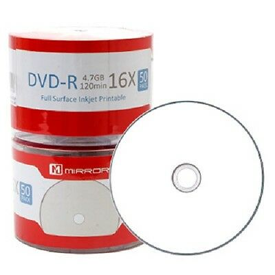 50 Stück Mirror DVD-R 16x Full Face Printable in Cakebox