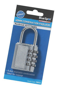 40mm Combination Padlock 4 Digit Lockers Toolboxes Luggage Shed Garage Lock