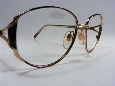 Givenchy Authentic 1980's Women's Dressy Large Brown Gold Eyeglass Frames