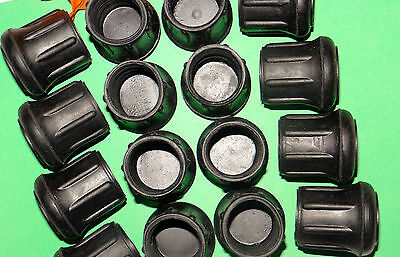"(16) New 1 1/8""  Black Rubber Cane Tips For Walkers, Crutches, Walking Sticks,"