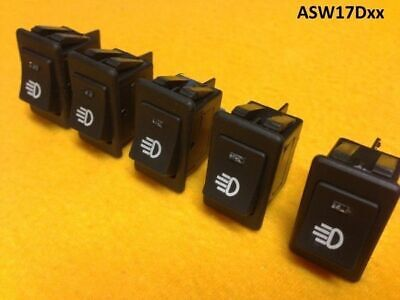 ON-OFF Red illuminated rocker switches x 5 Rectangular 35A@12V  5 Yr Wty