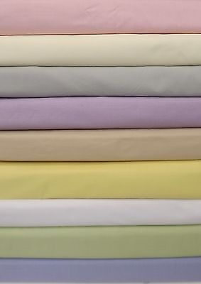 Kingsize 5' bed box pleat fitted valance(over mattress) sheet 68pick 13 colours
