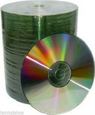500 Silver Shiny 52x CD-R 700MB 80MIN Blank Recordable CD CDR Media Disk Disc
