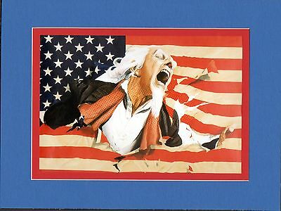 UNCLE SAM Attacked PROFESSIONALLY MATTED PRINT DC Ross art