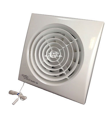 "Envirovent SILENT-150P Extractor Fan with Pull Cord for 6""/150mm duct SIL150P"