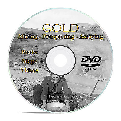 Gold Prospecting Mining Books, Assaying, Refining, Melting, Metallurgy, DVD V31