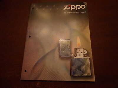 2003 Spring Choice Zippo Lighter Catalog Unused