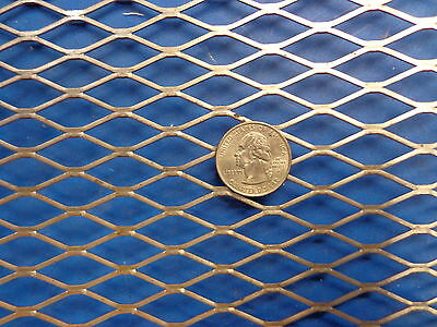 """Expanded Metal Sheet Diamond Pattern .035/"""" x 12/"""" x 36/"""" />1//4/""""-#20 Expanded Steel"""
