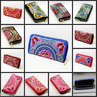 Wholesale10pcs Chinese Ethnic Retro Style Embroiderd Clutch Handbag Purse Wallet