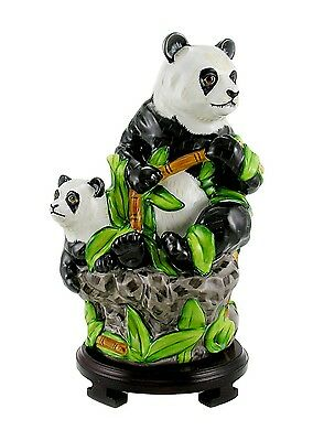 Large Lynn Chase Panda Bear and Baby Limited Edition  - Signed
