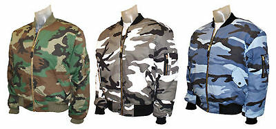 Ma1 Flight Bomber Us Combat Military Pilot Skin Mod Bikers Airforce Jacket Camo