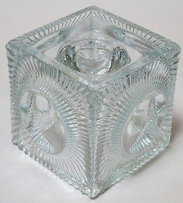 BEAUTIFUL VINTAGE RETRO GLASS CANDLESTICK CANDLE HOLDER 1960s