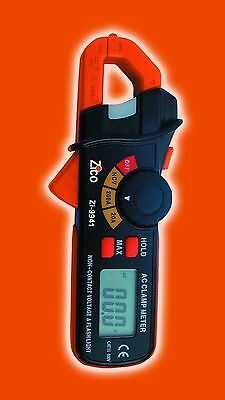 ZICO 9941 200A AC Current Mini Clamp Meter + Flashlight + NCV Detector Compact