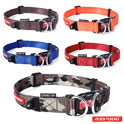 EZYDOG DOUBLE UP DOG COLLAR - Double D-Ring For Added Strength - FREE UK P&P!