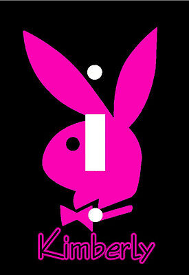 Personalized Hot Pink Playboy Bunny Light Switch Plate Cover