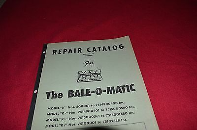 Minneapolis Moline Bale O Matic Pick Up Baler Dealer's Parts Book Manual SHPA GR