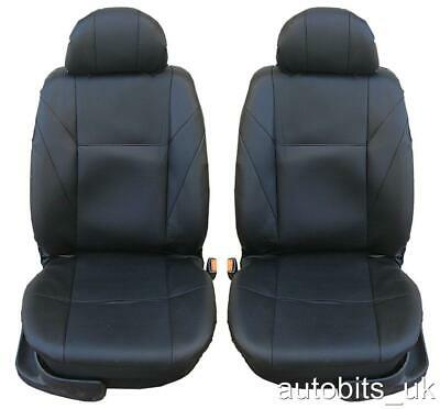 1+1 Front Leather Black Seat Covers For Nissan Pathfinder X-Trail Navara Pickup