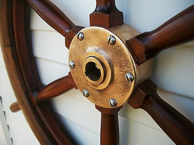 "c.1810 32"" antique boat yacht maritime ship wheel  nautical decor collectible"