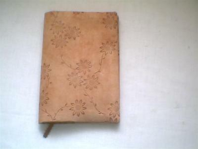 """Fabric book cover Floral Faux Suede Tall 4"""" x 7 1/2"""""""