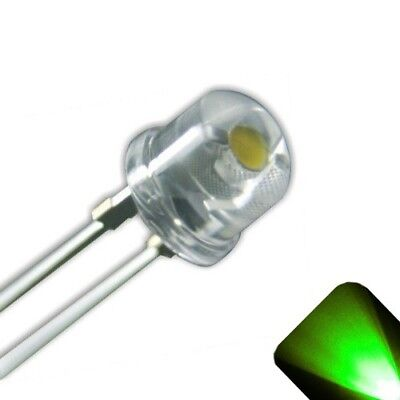 50 x LED 5mm / 4.8mm Pure Green Ultra Bright Straw Hat Wide Angle LEDs Light RC