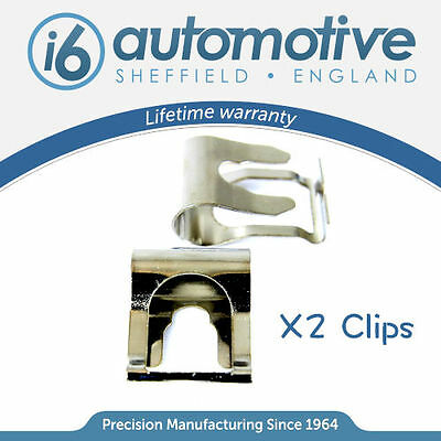 x2 Chrome FIAT PUNTO MK1 MK2 176 188 WINDSCREEN WIPER LINKAGE MOTOR REPAIR CLIP