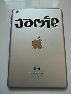 1 x Personalised Name Decal - Vinyl Sticker for iPad Air Juice Font Custom Name