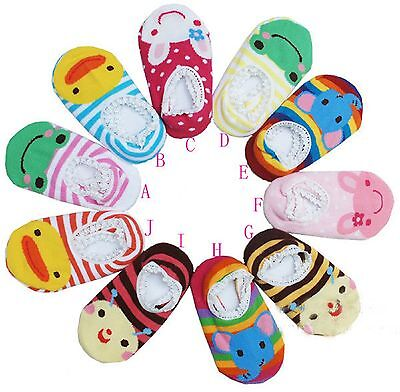 Lot 1/3/6/10 Pairs BABY BOY/GIRL TODDLER KIDS SLIPPER SOCKS ANTI-SKID BOOTIES