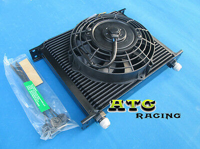 "30 Row Engine/transmission Oil Cooler + 7"" Electric Fan"
