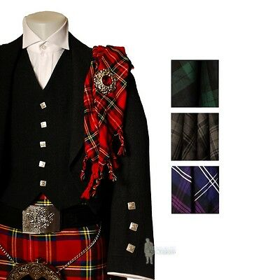 100% Wool Fly Plaid - Scottish Tartan Options - Stunning With Your Kilt Outfit!