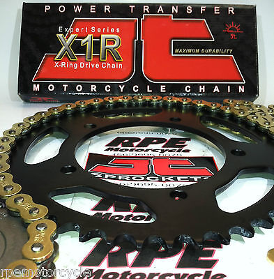 SUZUKI SV650 '99-12 JT GOLD 520 X-Ring QUICK ACCELERATION CHAIN AND SPROCKET KIT