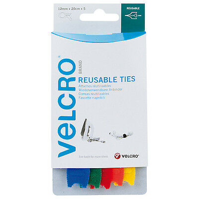 VELCRO® Brand One-Wrap Adjustable Reusable Cable Ties - 12mm x 20cm