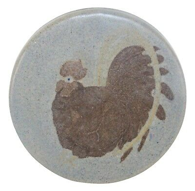 Marblehead Pottery Decorated Rooster Tile