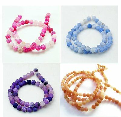 Natural Agate Gemstone Beads round in 4mm 8mm 10mm Jewellery making