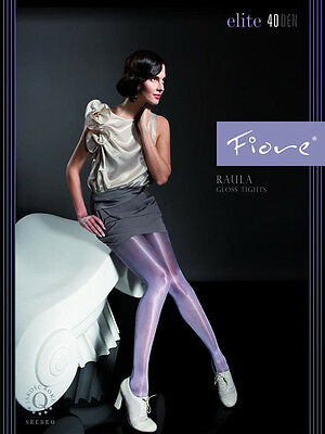 "Satin-Gloss Effect 40 Denier Tights Fiore ""RAULA"""