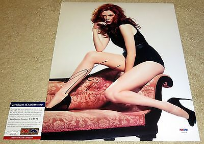 Hot Karen Gillan Signed 11x14 Dr Who Amy Guardians of the Galaxy Legs PSA/DNA