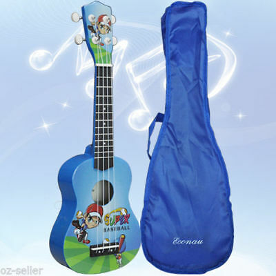 Soprano Ukulele Kids Guitar Basswood Nato neck Timber with Matching Carry Bag