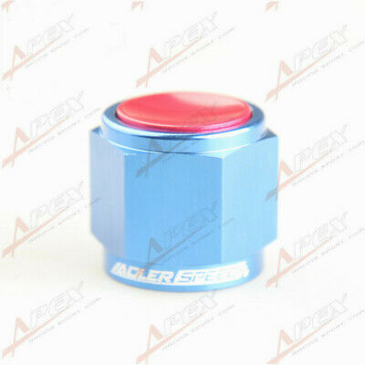 10AN -10 AN AN10  Flare Cap Caps Block Off Fitting Aluminum Red/Blue