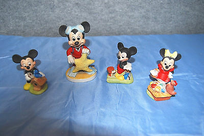 Vintage lot of Mickey & Minnie Mouse Figurines  S4080