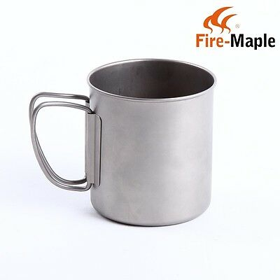 New Fire Maple Outdoor Titanium Cup Mug Portable Camping Water Cup 330ml 55g