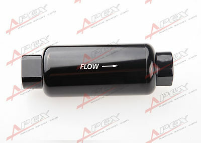 AN -10 AN10 Black Anodised Billet Magnetic High Flow Fuel Filter 100 Micron