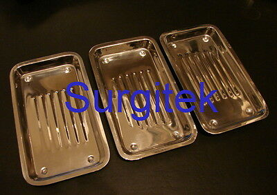 Instrument Scaler Tray, St Steel Instruments,Dental, Surgical,Tray *New* 5 piece