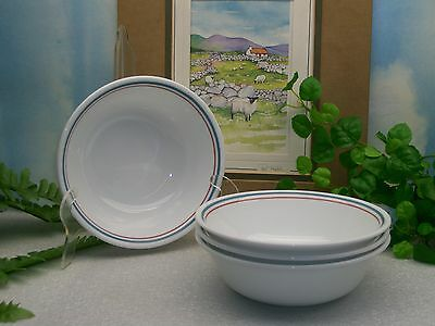 Lot of 4 Corelle Corning Ware PRINSTON Cereal Soup or Salad Bowls  EXCELLENT