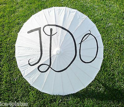 "I Do Wedding Parasol / Umbrella Paper & Bamboo wedding favor 33"" adult"