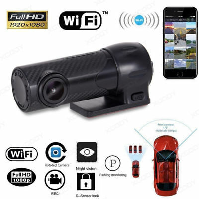 HD 1080P Hidden Car DVR WIFI Video Vehicle Camera Recorder Dash Cam Rearview 170