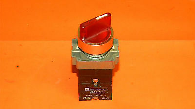 Telemecanique Red Illumintated Selector Switch With (3) ZB2-BE101 Contact Block
