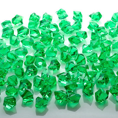 Green Acrylic Ice Cube Stones Approx 90Pcs Nuggets/pebbles Decoration Fancy