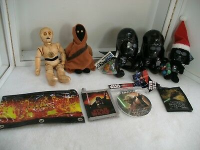 "Star Wars Lot of 2 5""  Vinyl Stuffed Darth Vader Doll Toys ~ 1 NWT"