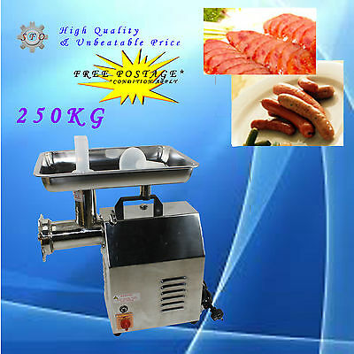 250kg/hr 900W NEW Commercial Electric Meat Mincer Grinder Sausage Filler Maker