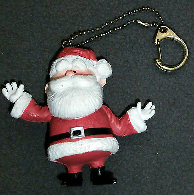 Santa Claus Keychain Zipper Pull Rudolph the Red Nosed Reindeer TV Show